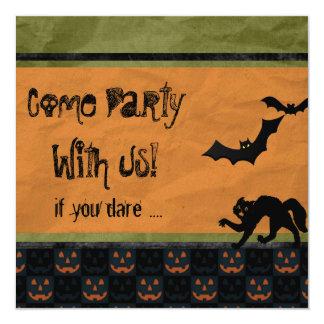 Dare Ya - Batty Halloween Party Personalized Invite