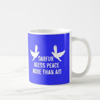 Darfur is dying, take action now basic white mug