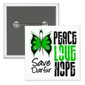 Darfur Peace Love Hope 15 Cm Square Badge