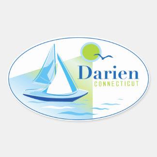 Darien, CT, Sailboat Sticker