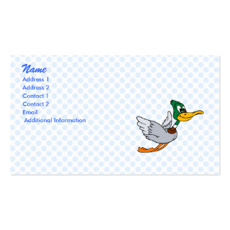 Darien Duck Double-Sided Standard Business Cards (Pack Of 100)