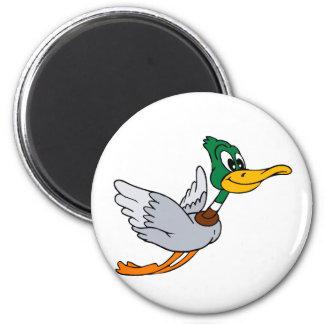 Darien Duck 6 Cm Round Magnet