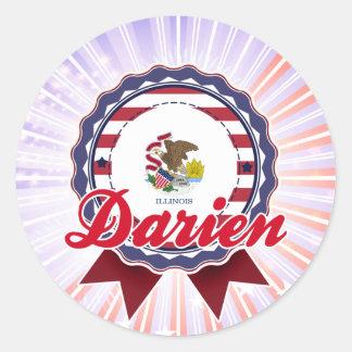 Darien, IL Round Stickers