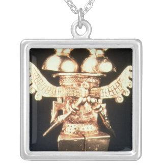 Darien Pectoral Silver Plated Necklace