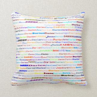 Darien Text Design II Throw Pillow Pillow
