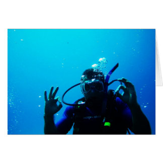 Daring Scuba Diver Card