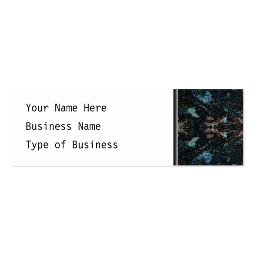 Dark Abstract Design with Some Soft Edges. Business Card