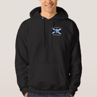 Dark adult hoodie with Beach Volley logo + sun