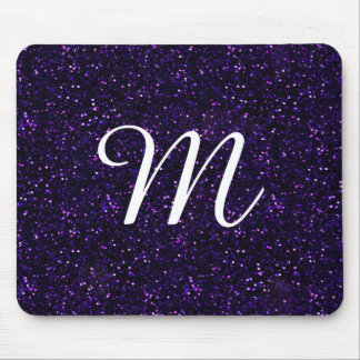 Dark Amethyst Purple Glitter Mouse Mat