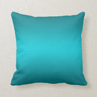 Dark and Light Aqua Blue Gradient - Turquoise Cushion