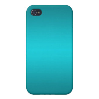 Dark and Light Aqua Blue Gradient - Turquoise Covers For iPhone 4