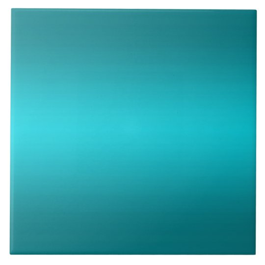 Dark and Light Aqua Blue Gradient - Turquoise Large Square Tile