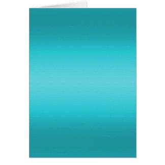 Dark and Light Aqua Blue Gradient - Turquoise Note Card