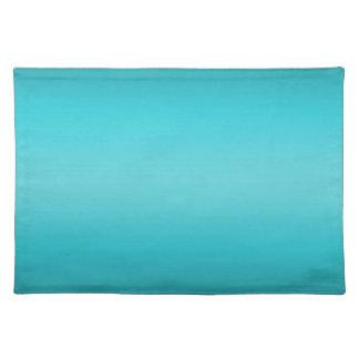 Dark and Light Aqua Blue Gradient - Turquoise Placemat