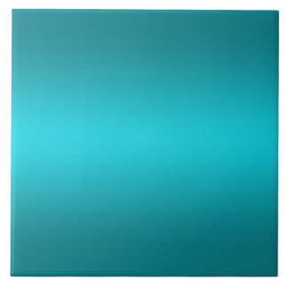 Dark and Light Aqua Blue Gradient - Turquoise Tile