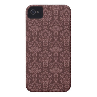 Dark and Light Brown Ornate Damask Pattern Case-Mate iPhone 4 Case