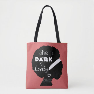 Dark and Lovely with Christian Scripture Tote Bag