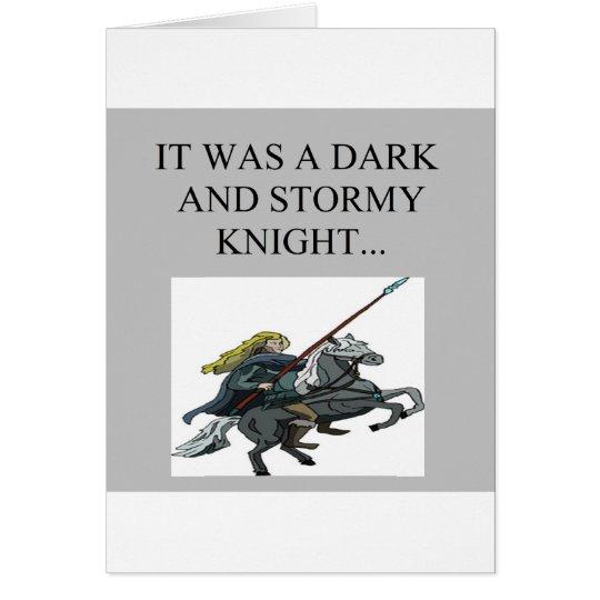 dark and stormy night cliche joke card