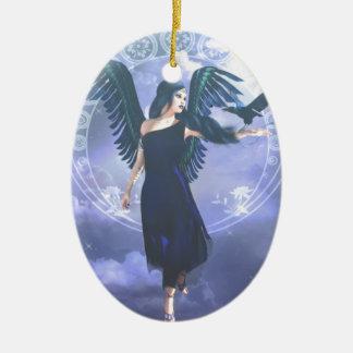 Dark Angel Ceramic Oval Decoration