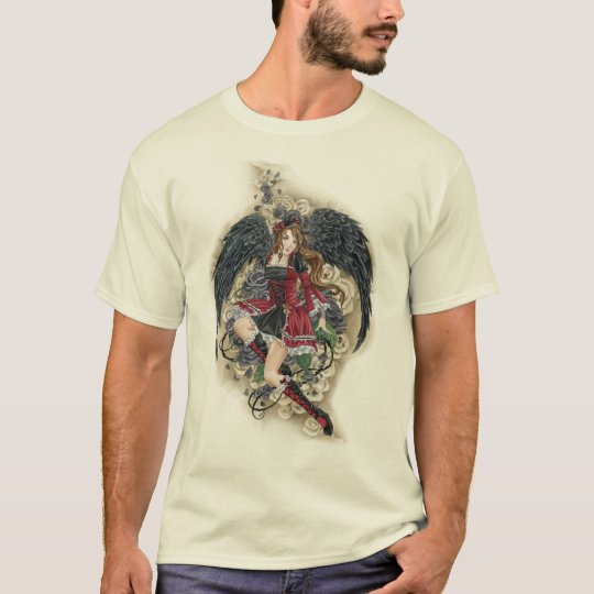 Dark Angel Gothic Rose Edun Organic shirt