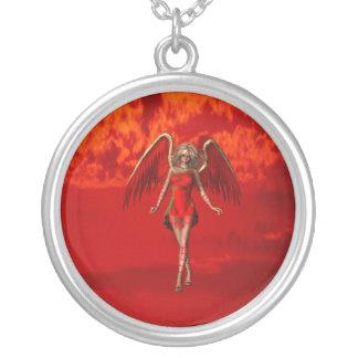 Dark Angel  Silver Necklace