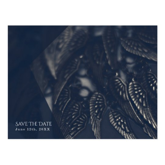 Dark Angel Wings Gothic Glam Chic Save the Date Postcard