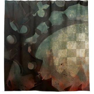 Dark Anime Grunge Collage Shower Curtain
