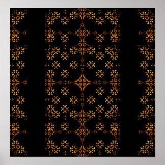 Dark Arabic Ornate Poster
