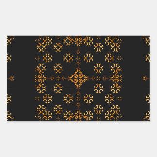 Dark Arabic Ornate Rectangular Sticker