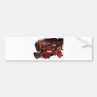 dark art skull bumper sticker
