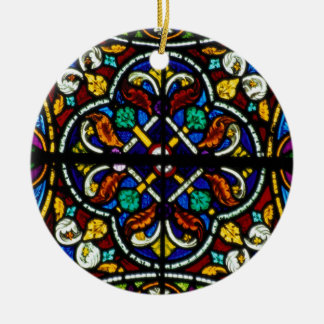 Dark artistic stained glass christmas ornament