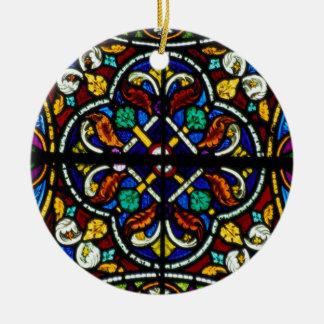Dark artistic stained glass round ceramic decoration