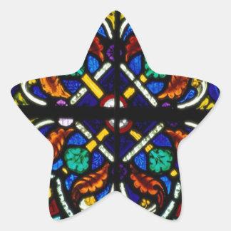 Dark artistic stained glass star sticker