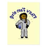 Dark Astronaut Girl Post Cards