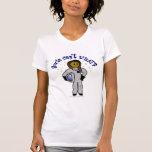 Dark Astronaut Girl T Shirt