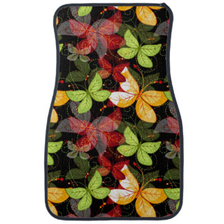Dark Autumn Pattern Car Mat
