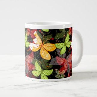 Dark Autumn Pattern Giant Coffee Mug