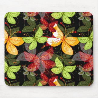 Dark Autumn Pattern Mouse Mat
