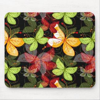 Dark Autumn Pattern Mouse Pad