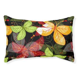 Dark Autumn Pattern Pet Bed