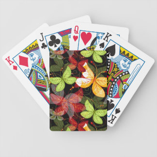 Dark Autumn Pattern Poker Deck