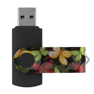Dark Autumn Pattern USB Flash Drive