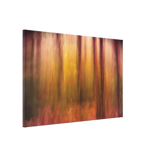 Dark Autumnal Abstract Wrapped Canvas Canvas Prints