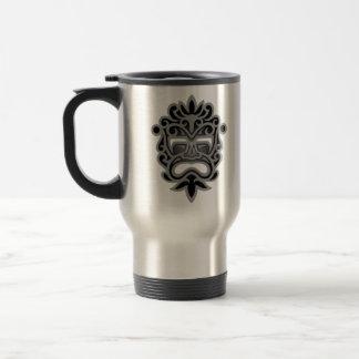 Dark Aztec Mask Stainless Steel Travel Mug