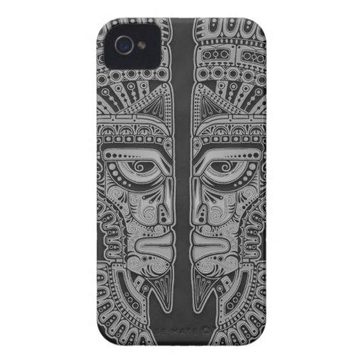 Dark Aztec Twins Blackberry Bold Cases