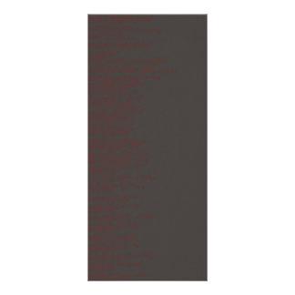 Dark Background with red script Custom Rack Card