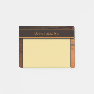 Dark Baltic Pine Faux Woood Small Post-it® Notes