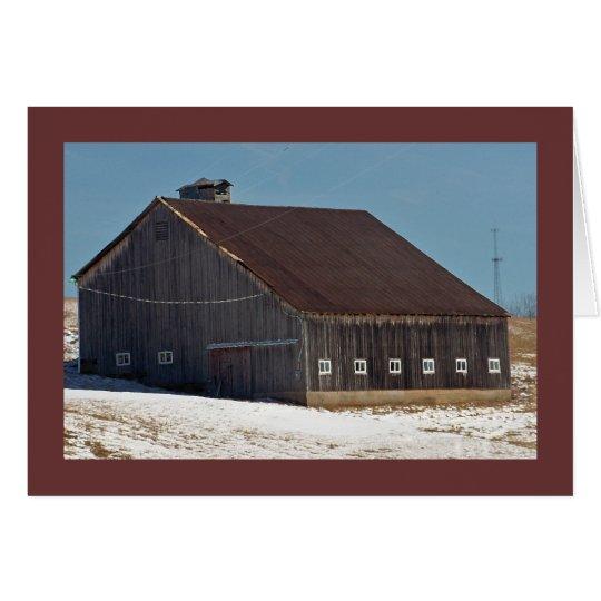 "Dark Barn w White Windows on the ""National Pike"" Card"