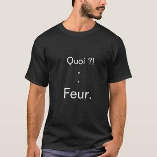 "Dark basic tee-shirt ""What?! For. "" T-Shirt"