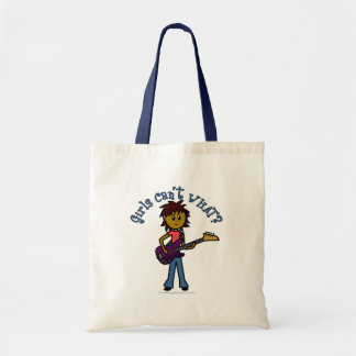 Dark Bass Guitar Girl Tote Bag